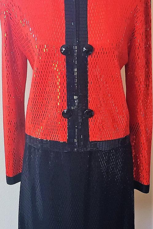 St. John Evening Suit, Size 8   SOLD