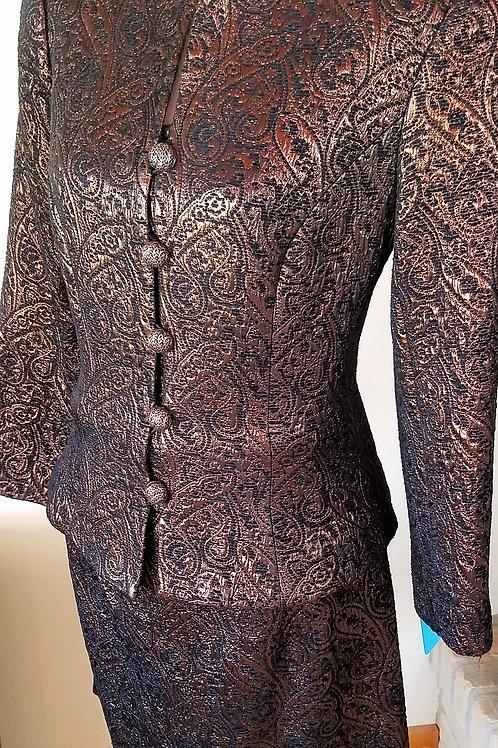 Carmen Marc Valvo Suit, Size 10   SOLD