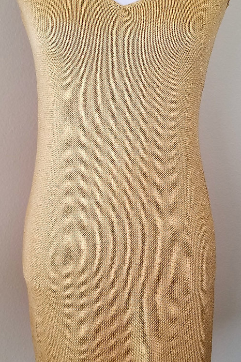St. John Collection Gold Dress, Size P    SOLD