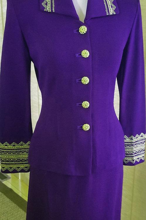 St. John Evening Suit, Size 2    SOLD