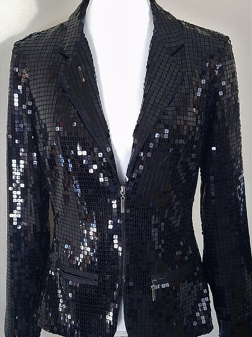 BeBe Black Beaded Jacket, NWOT Size 10    SOLD
