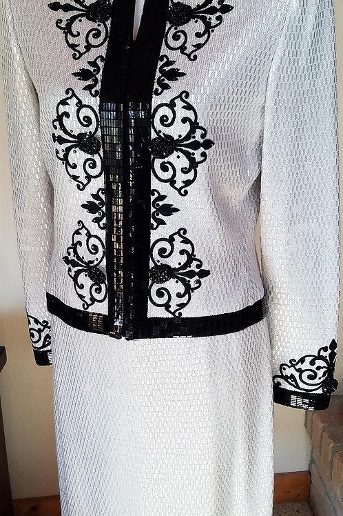 St. John Evening Suit, Size 8, Size 10