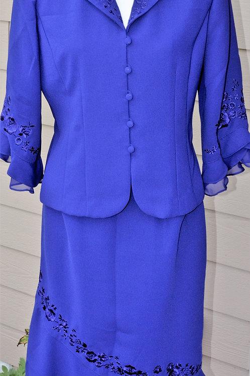 Plaza South Purple Suit, Size 10P    SOLD