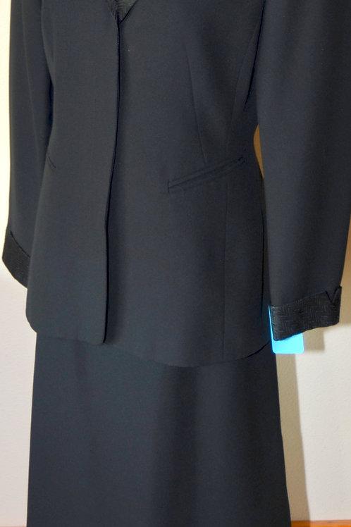 Kasper Suit, 3 pcs Size 6, Skirt Shortened