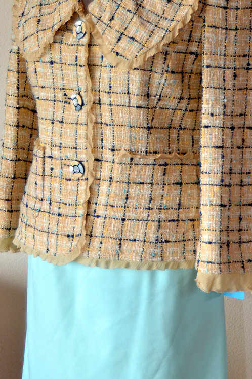 Ellen Tracy Jacket, No Label Skirt, Size 2  SOLD