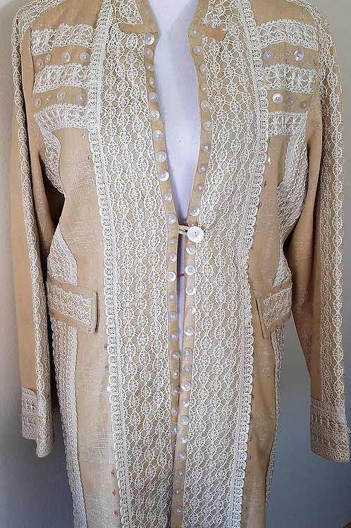 Sandy Starkman Long Jacket, Size L    SOLD