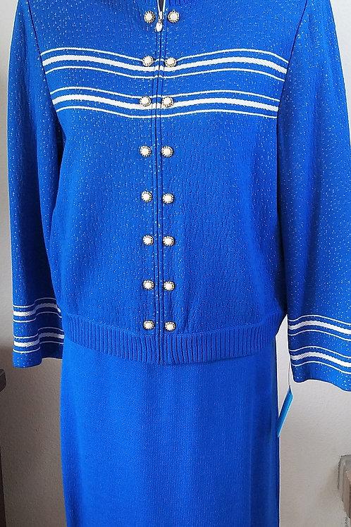 St. John Collection Suit, Jacket Sz 8, Skirt Sz10