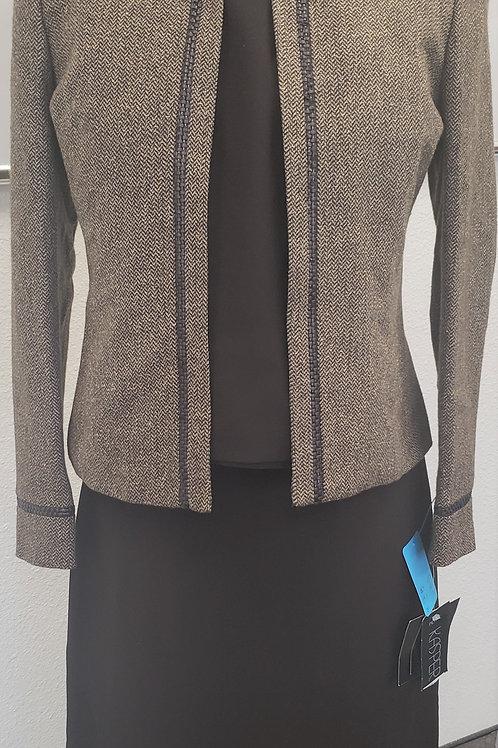 Kasper Brown Skirt Suit, NWT, Size 2P