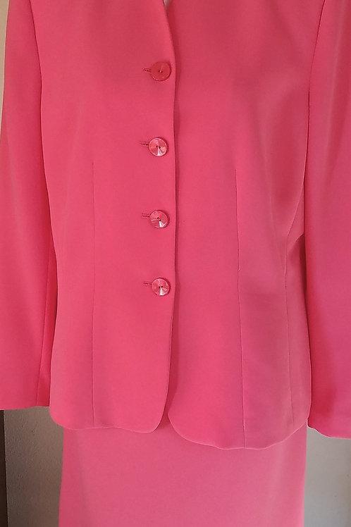 Le Suit Coral Suit, Size 14    SOLD