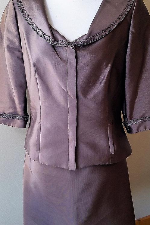 Talbots Chocolate Suit, Size 10P