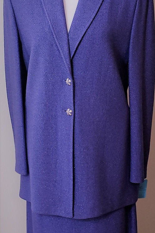 St. John Collection Purple Suit, Size 10    SOLD