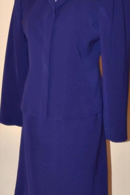 Kasper Suit, Size 6P (purple)   SOLD