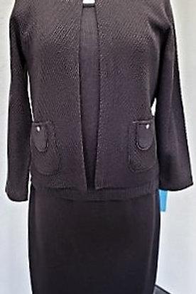 San Remo Knit Suit, Jacket Sz 8, Skirt Sz M (8)