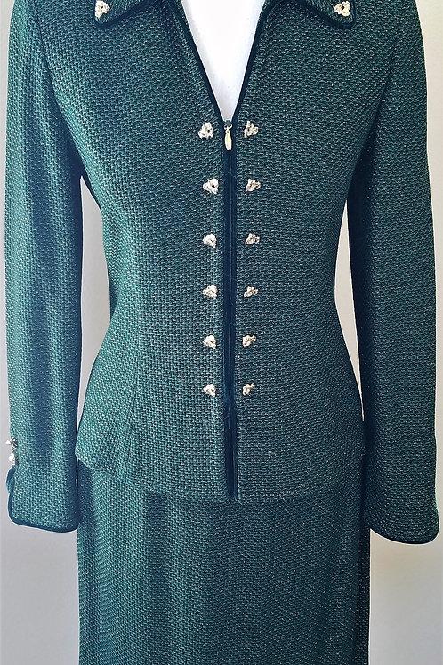 MM St. John Couture Suit, Jacket Sz 2, Skirt Sz 4 SOLD
