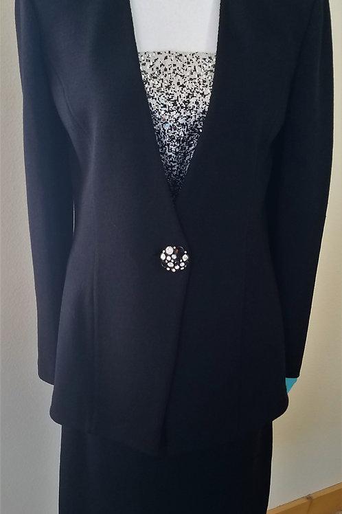 St. John Black Evening Suit, Size 10    SOLD