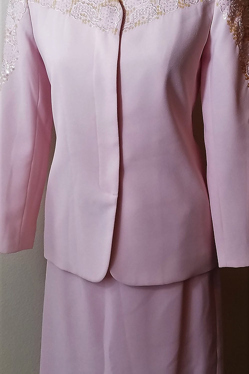 John Meyer Pastel Pink Suit, Size 2P    SOLD