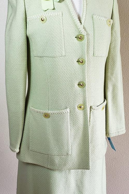 St. John Collection Suit, Light Mint Green, Size 8