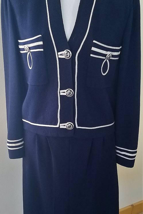 St. John Navy Collection Suit, Size 8/M   SOLD
