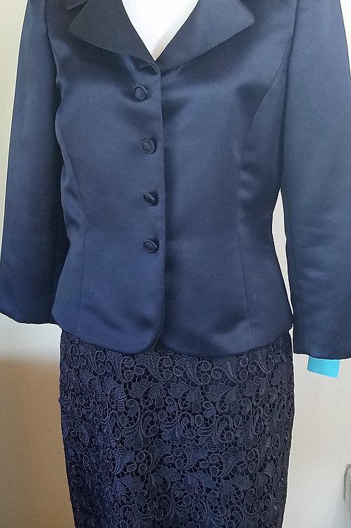Tahari LUXE Suit, Size 6, Navy Blue     SOLD
