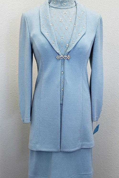 St. John Evening Suit, 3 pcs, Jkt/Skt Sz 2, Shell Sz 4