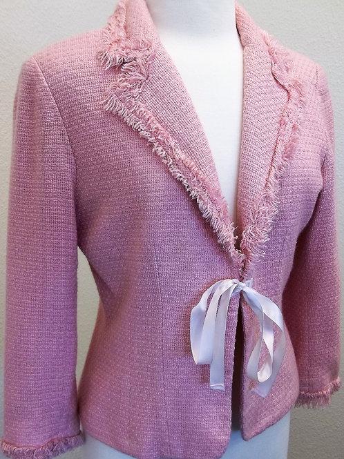 Pink Tweed Blazer, Size S