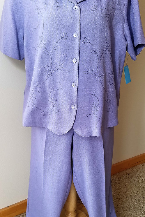 Alfred Dunner Pants Suit, Size 18