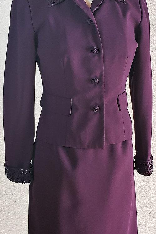 Talbots Suit, Size 8P, check measurements    SOLD