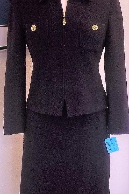 St. John Collection Eggplant Suit, Size 4