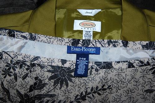 Talbots Jkt, Evan Picone Skirt, Size 24W  SOLD