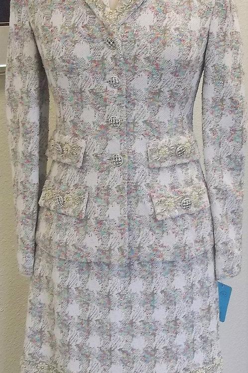 St. John Couture Suit, NWOT Jkt Sz 2, Skt Sz 4