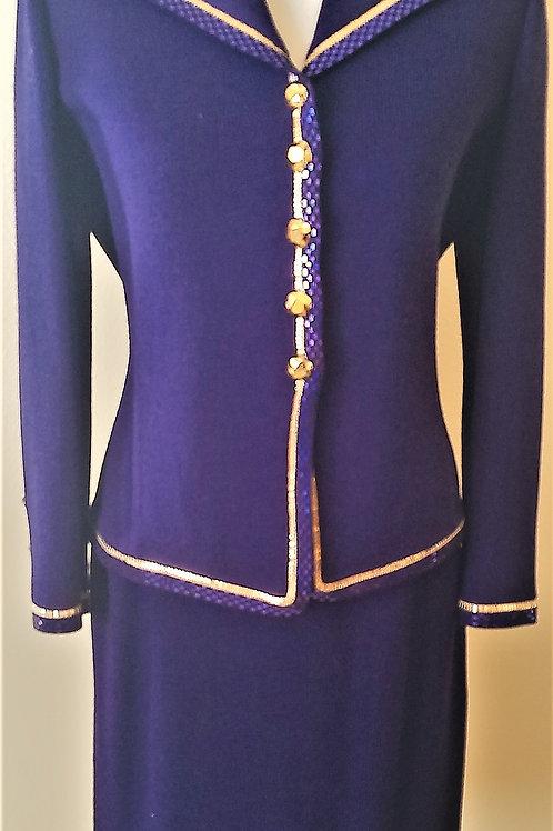 St. John Evening Suit, Size 4    SOLD