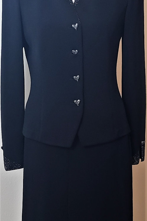 St. John Evening Suit, Jacket Size 6, Skirt Size 4    SOLD