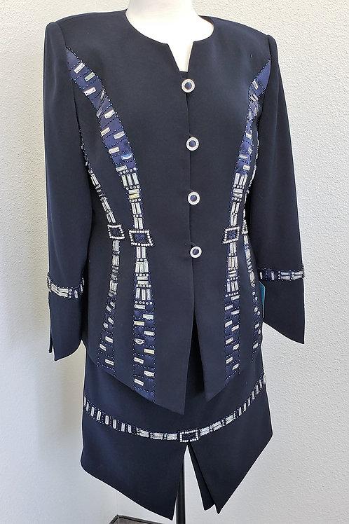 Donna Vinci Navy Suit, NWT Size 10    SOLD