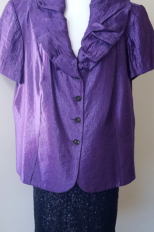 Dress Barn Purple Jkt Sz 22W, Lane Bryant Skt Sz 22/24  SOLD