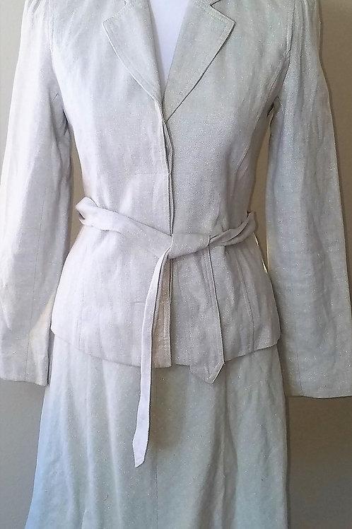 Isaac Mizrahi Beige Sparkle Suit, Size 2