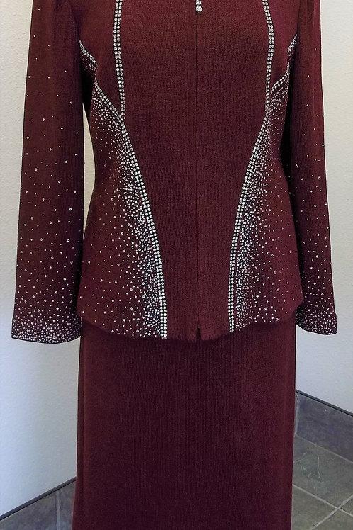 Donna Vinci Knit Suit, Size 8    SOLD