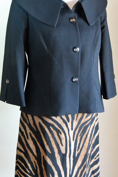 Mary Kay Jacket, WH/BM Skirt, Size 10   SOLD