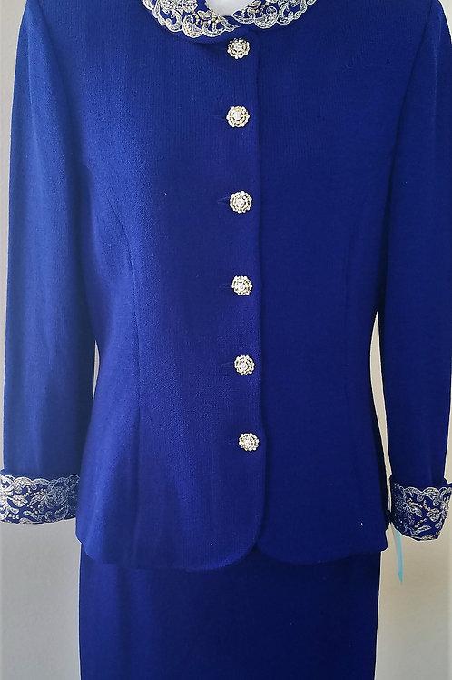 St. John Evening Suit, Jacket Sz 12, Skirt Sz 14   SOLD