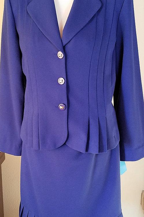 Danny & Nicole Suit, Blue Size 12    SOLD