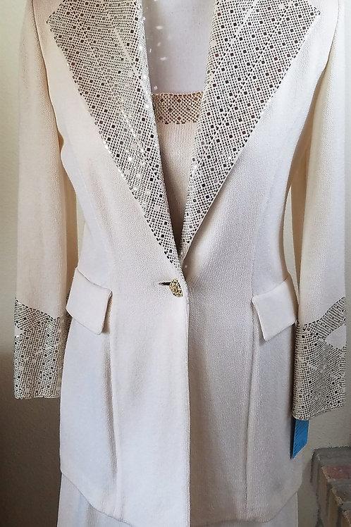 St. John Evening, 3 pcs, Sz 2 Jacket, Sz 4 Skirt   SOLD