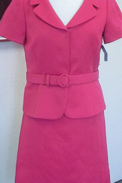 Tahari Hot Pink Suit, Size 6