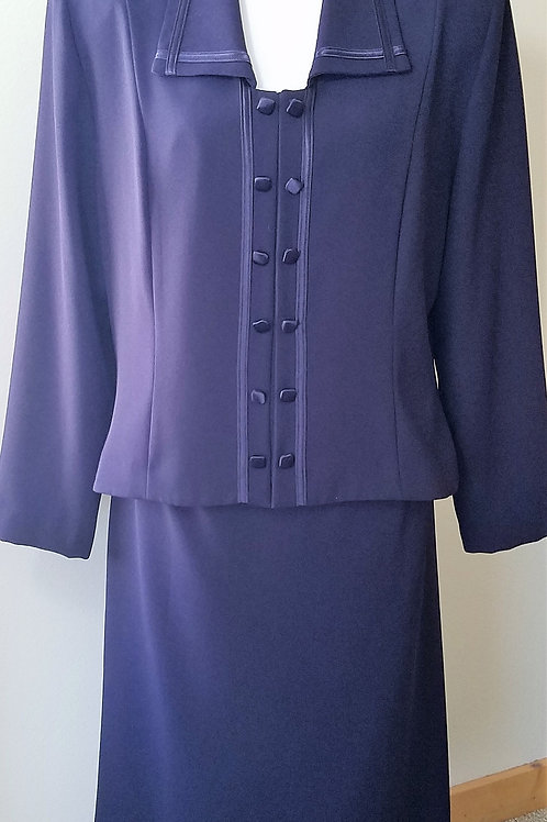 Zahra Suit, Eggplant Purple, Size 16    SOLD