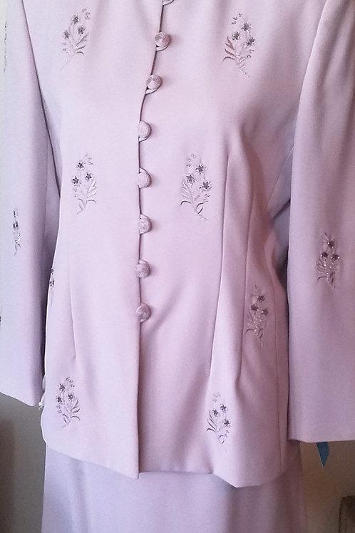 John Meyer Suit, Lavender Size 14P   SOLD