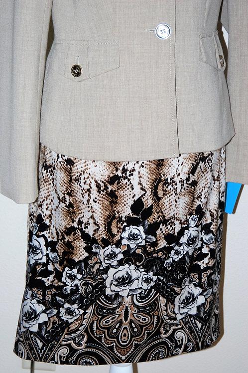 Calvin Klein Jkt, WH/BM  Skt, Size 4   SOLD