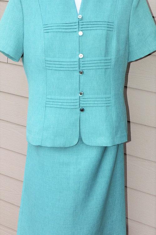 Periwinkle Suit, Size 18    SOLD