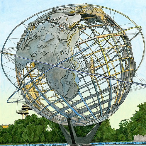 Postcards from Queens (Unisphere & NY State Pavillion)
