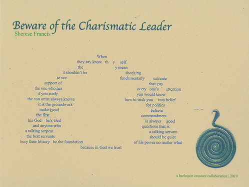 Beware of the Charismatic Leader Signed Poem