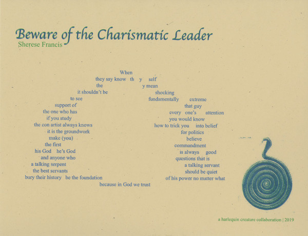 """Sherese Francis, """"Beware of the Charismatic Leader"""""""