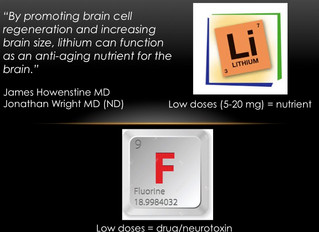 Lithium and Fluoride – in Nutrition and Disease