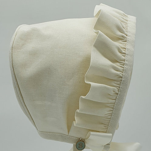Small Dreams Embroidered Linen Bonnet